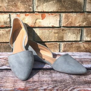 A New Day Light Blue Suede Flats